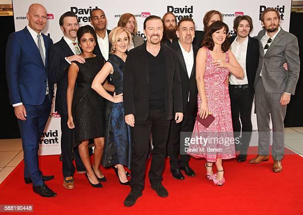 Cast members including Tom Bennett Mandeep Dhillon Ben Bailey Smith aka Doc Brown Abbie Murphy Andy Burrows Ricky Gervais Michael Clarke producer...