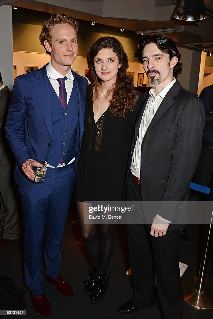 Cast members Jack Fox Daisy Bevan and Joe Wredden attend the press night performance of 'Dorian Gray' at the Riverside Studios on April 22 2014 in...