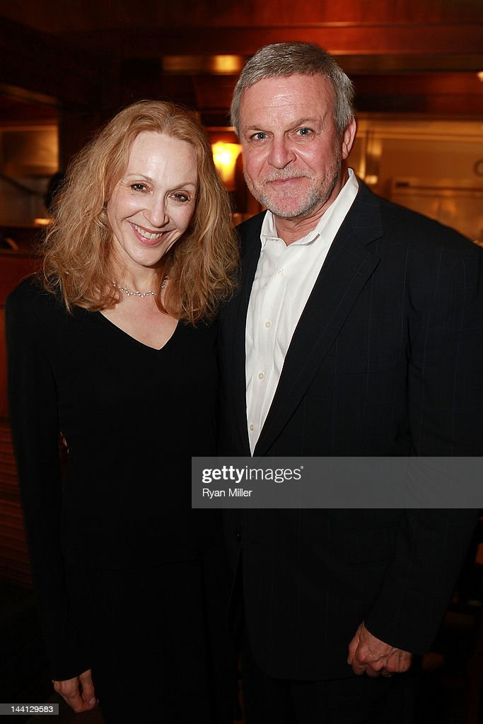 Cast members <a gi-track='captionPersonalityLinkClicked' href=/galleries/search?phrase=Jan+Maxwell&family=editorial&specificpeople=227465 ng-click='$event.stopPropagation()'>Jan Maxwell</a> (L) and Ron Raines (R) pose during the party for the opening night performance of 'Follies' at Center Theatre Group/Ahmanson Theatre on May 10, 2012 in Los Angeles, California.