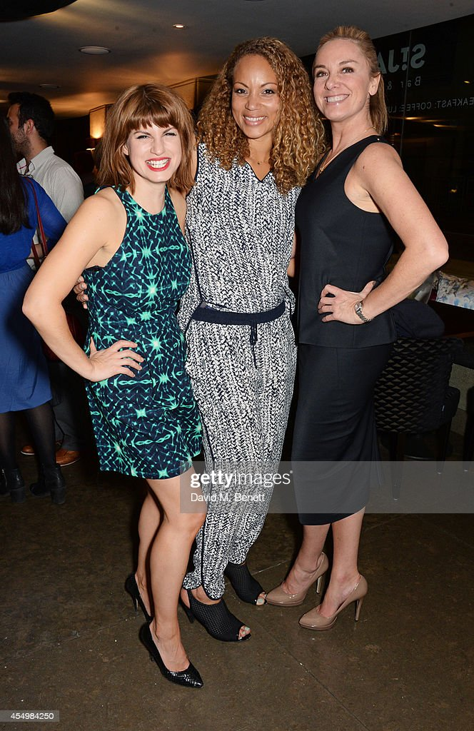 Cast members Jemima Rooper Angela Griffin and Tamzin Outhwaite attend an after party celebrating the press night performance of 'Breeders' at the St...