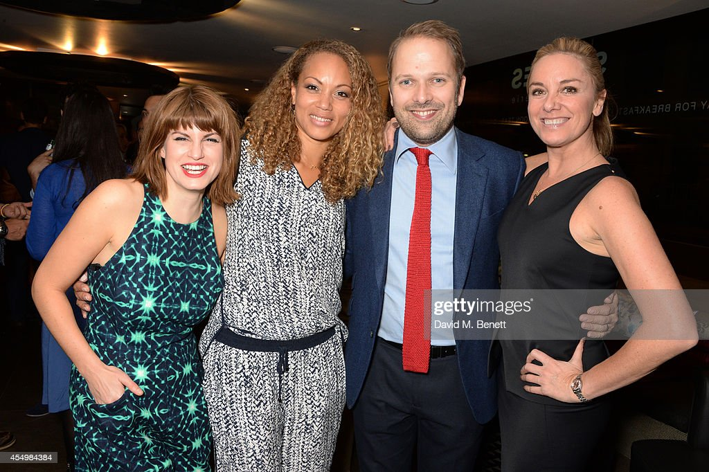 Cast members Jemima Rooper Angela Griffin Nicholas Burns and Tamzin Outhwaite attend an after party celebrating the press night performance of...