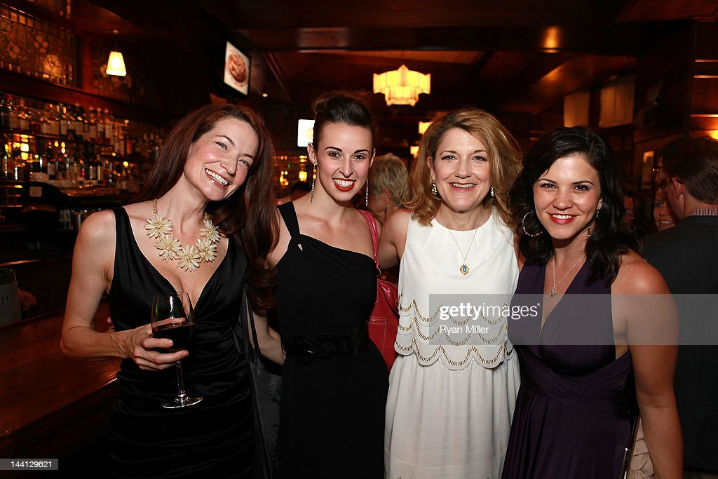 Cast members Jessica Perrizo, Becky Elizabeth Stout, Victoria Clark and Sara Edwards pose during the party for the opening night performance of 'Follies' at Center Theatre Group/Ahmanson Theatre on May 10, 2012 in Los Angeles, California.