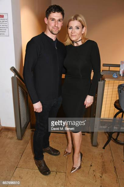Cast members Joe Coen and Michelle Collins attend the press night performance of 'A Dark Night In Dalston' at the Park Theatre on March 13 2017 in...
