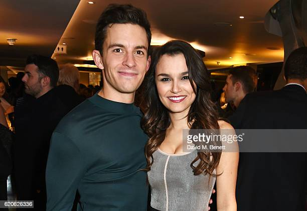 Cast members Jonathan Bailey and Samantha Barks attend the press night performance of 'The Last Five Years' at the St James Theatre on November 2...