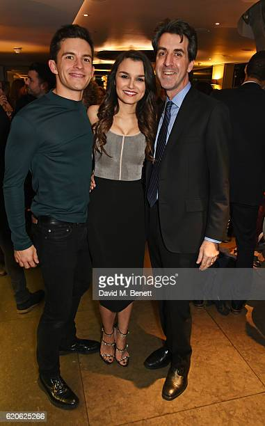 Cast members Jonathan Bailey Samantha Barks and writer/director Jason Robert Brown attend the press night performance of 'The Last Five Years' at the...