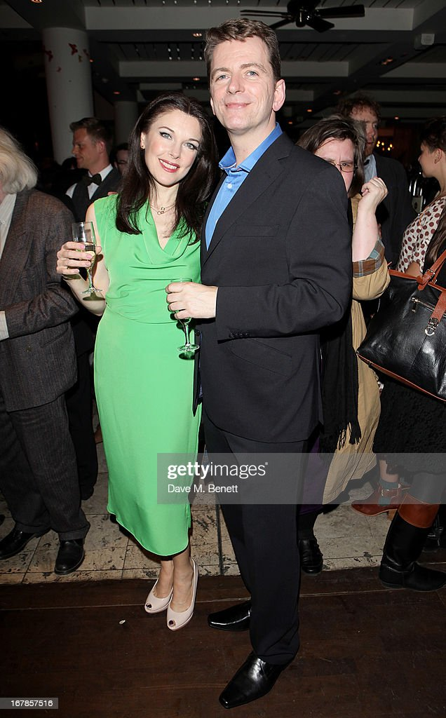Cast members Josefina Gabrielle (L) and Glyn Kerslake attend an after party celebrating the press night performance of the Menier Chocolate Factory's 'Merrily We Roll Along', following its transfer to the Harold Pinter Theatre, at Grace Restaurant on May 1, 2013 in London, England.