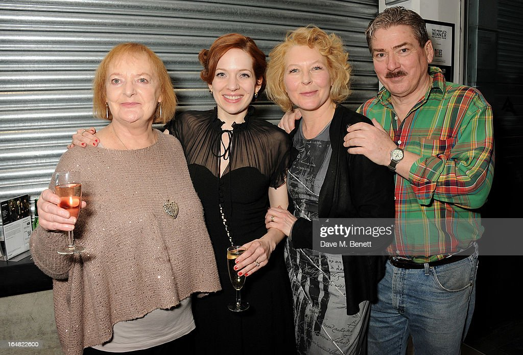 Cast members June Watson, <a gi-track='captionPersonalityLinkClicked' href=/galleries/search?phrase=Katherine+Parkinson&family=editorial&specificpeople=5583772 ng-click='$event.stopPropagation()'>Katherine Parkinson</a>, Stella Gonet and Michael Thomas attend an after party following the press night performance of 'Before The Party' at the Almeida Theatre on March 28, 2013 in London, England.