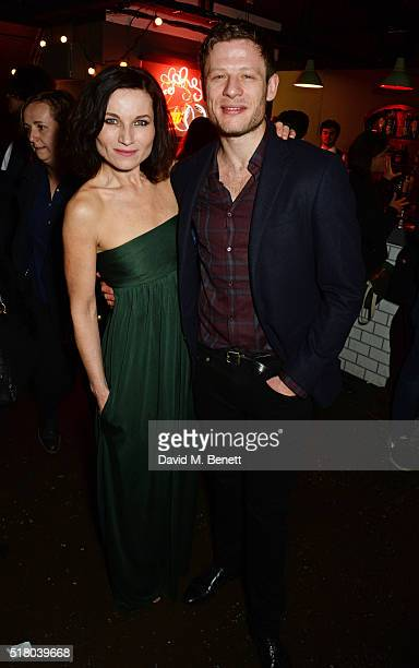 Cast members Kate Fleetwood and James Norton attend the press night performance of 'Bug' at Found111 on March 29 2016 in London England