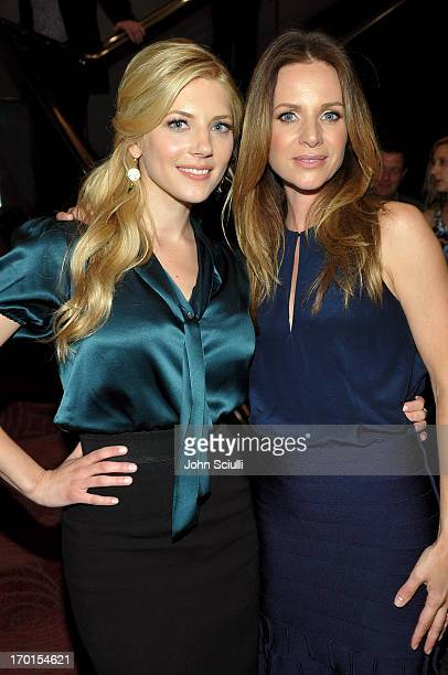 Cast members Katheryn Winnick and Jessalyn Gilsig attend the 'Vikings' For Your Consideration event at the Leonard Goldenson Theatre on June 7 2013...