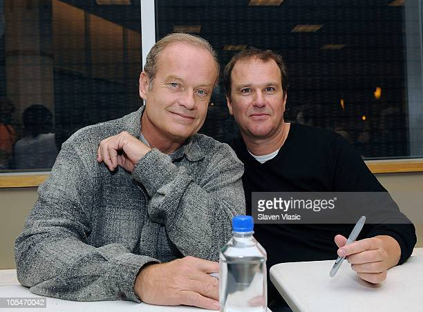 Cast members Kelsey Grammer and Douglas Hodge promote 'La Cage Aux Folles New Broadway Cast Recording' at Barnes Noble Lincoln Triangle on October 14...