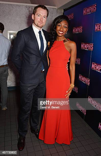 Cast members Killian Donnelly and Beverley Knight attend the press night performance of 'Memphis The Musical' at The Floridita on October 23 2014 in...