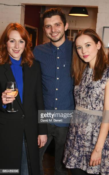 Cast members Laura Rogers Michael Fox and Alexandra Dowling attend the press night after party for 'A Lie Of The Mind' at The Southwark Playhouse on...