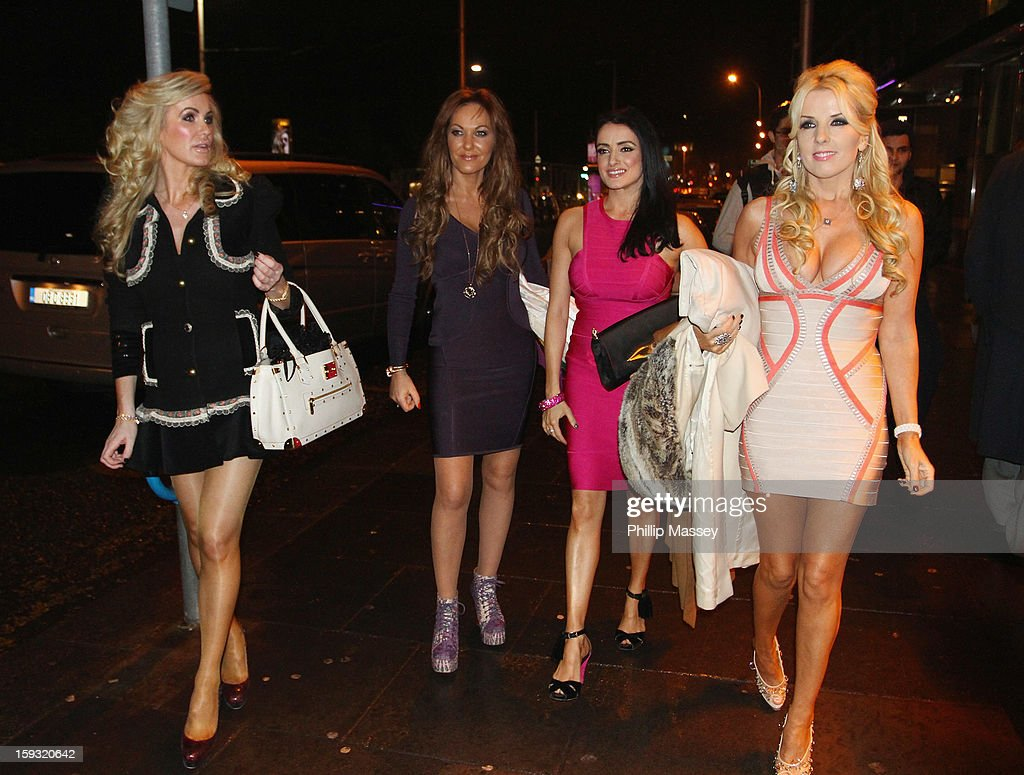 Cast members Lisa Murphy, Jo Jordan, Virginia Macari and Roz Flanagan attend the wrap party for 'Dublin Wives' at Dandelion on January 11, 2013 in Dublin, Ireland.