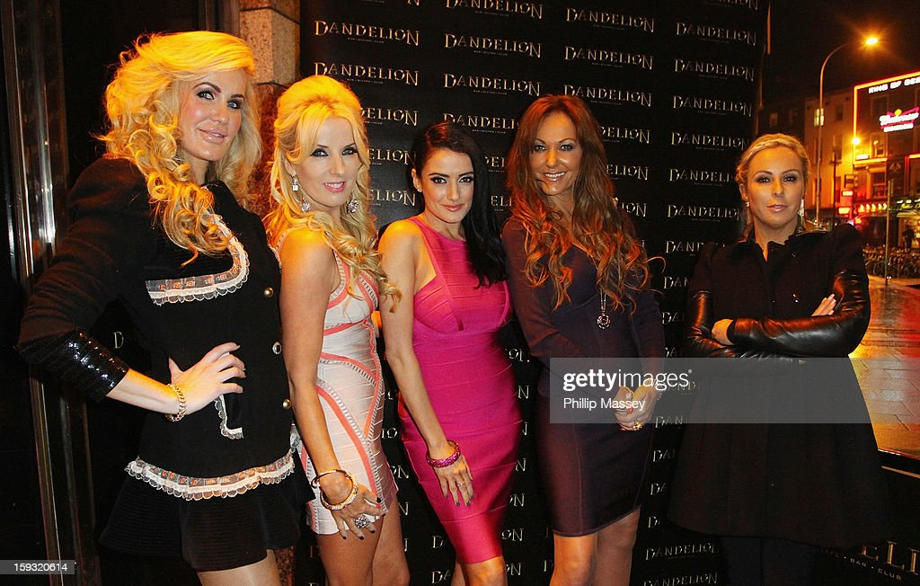Cast members Lisa Murphy, Roz Flanagan, Virginia Macari, Jo Jordan and Danielle Meagher attend the wrap party for 'Dublin Wives' at Dandelion on January 11, 2013 in Dublin, Ireland.