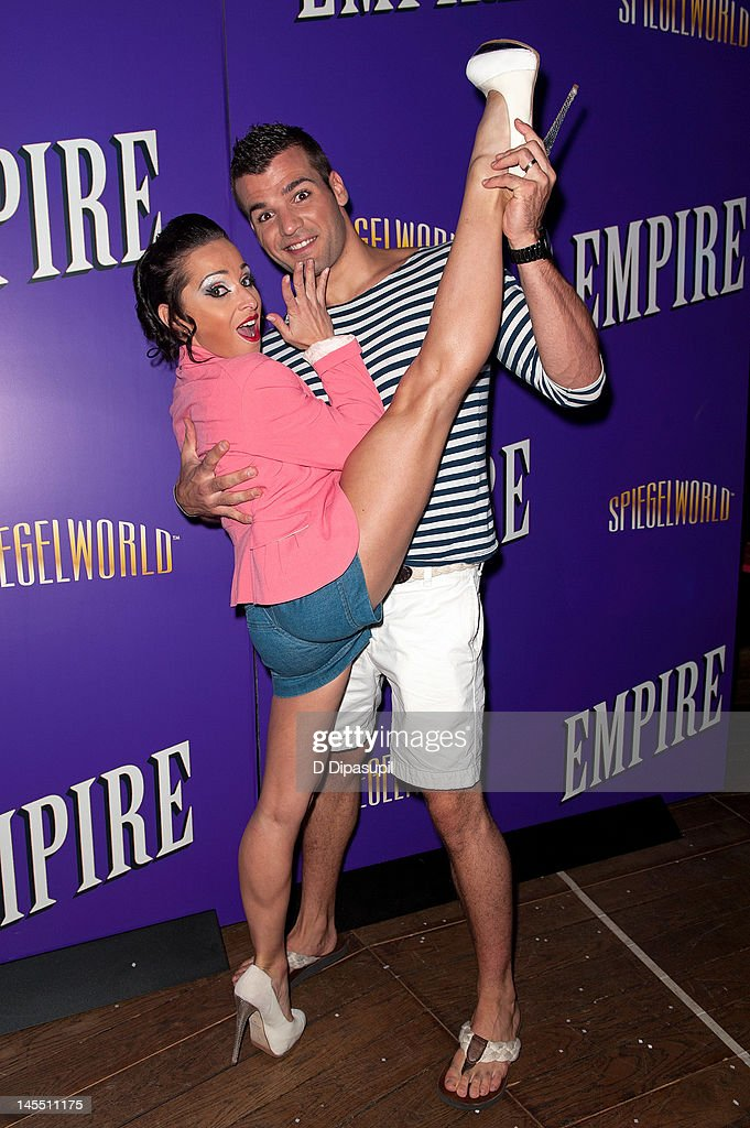 Cast members Ludivine Furnon (L) and Martin Charrat attend the 'Empire' Opening Night Curtain Call And After Party at 265 West 45th Street on May 31, 2012 in New York City.
