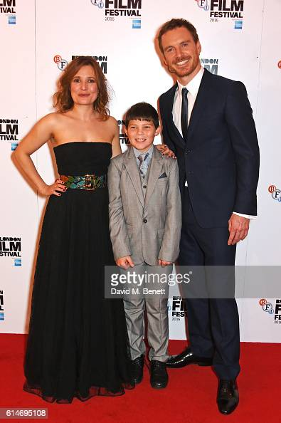 Cast members Lyndsey Marshal Georgie Smith and Michael Fassbender attend the 'Trespass Against Us' screening during the 60th BFI London Film Festival...
