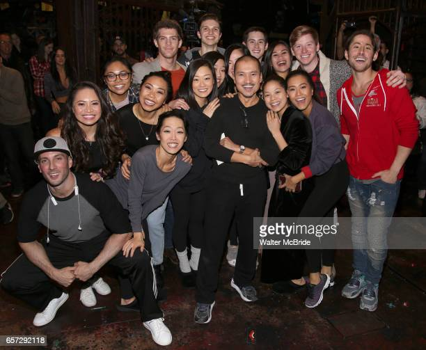 Cast members making their Broadway dedut during The Opening Night Actors' Equity Gypsy Robe Ceremony honoring Catherine Ricafort for the New Broadway...