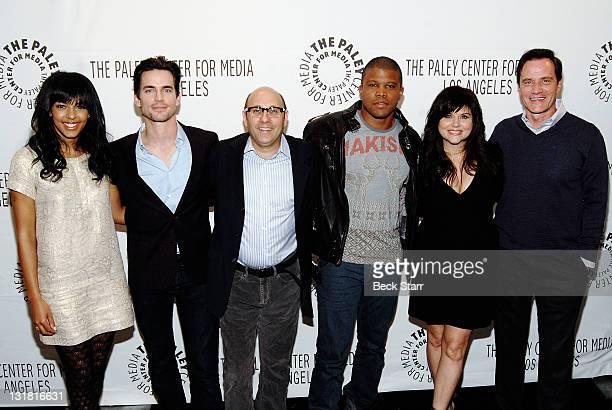 Cast members Marsha Thomason Matt Bomer Willie Garson Sharif Atkins Tiffani Thiessen and Tim DeKay of the hit TV series 'White Collar' arrive at The...