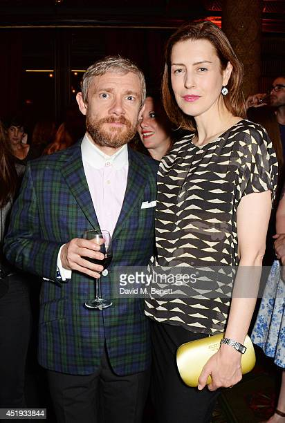 Cast members Martin Freeman and Gina McKee attend an after party celebrating the Gala Night performance of 'Richard III' playing at the Trafalgar...