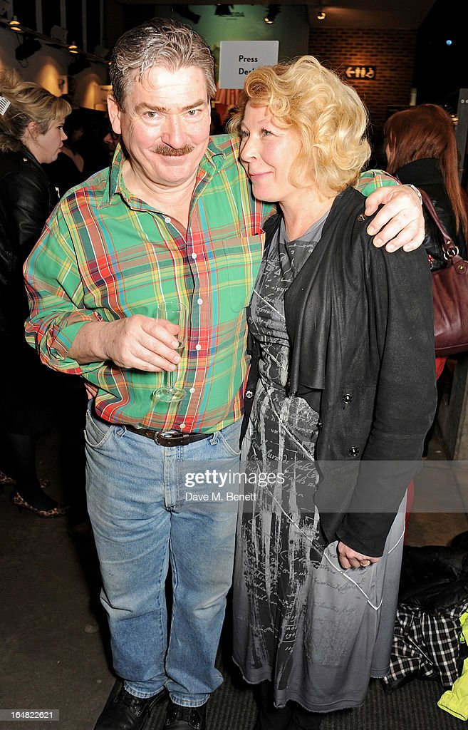 Cast members Michael Thomas (L) and Stella Gonet attend an after party following the press night performance of 'Before The Party' at the Almeida Theatre on March 28, 2013 in London, England.