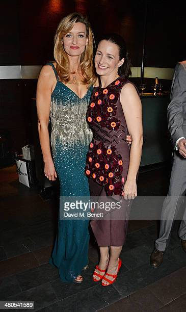 Cast members Natascha McElhone and Kristin Davis attend an after party celebrating the press night performance of 'Fatal Attraction' at Mint Leaf...