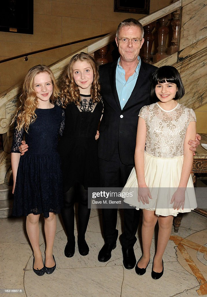Cast members Nell Williams, Bebe Cave, director Stephen Daldry and Maya Gerber attend an after party following the press night performance of 'The Audience' at One Whitehall Place on March 5, 2013 in London, England.