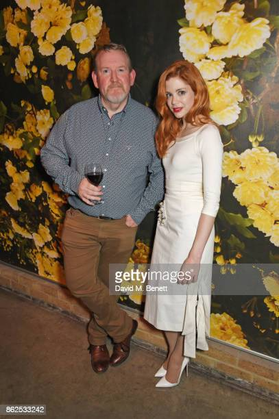 Cast members Nigel Betts and Charlotte Hope attend the press night performance of 'Albion' at The Almeida Theatre on October 17 2017 in London England