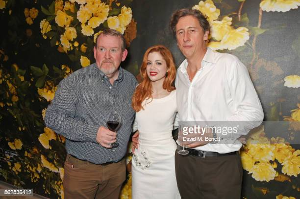 Cast members Nigel Betts Charlotte Hope and Nicholas Rowe attend the press night performance of 'Albion' at The Almeida Theatre on October 17 2017 in...