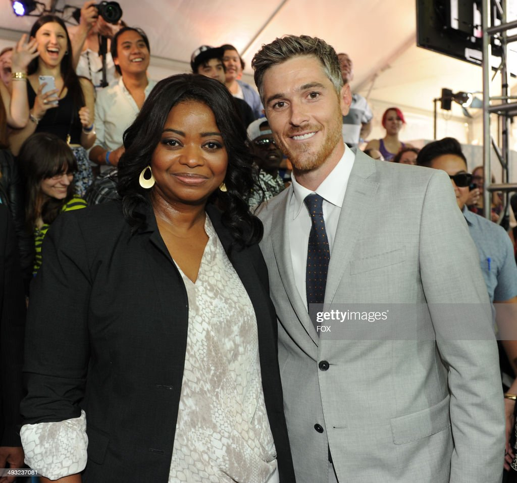 SOCIETY cast members <a gi-track='captionPersonalityLinkClicked' href=/galleries/search?phrase=Octavia+Spencer&family=editorial&specificpeople=2538115 ng-click='$event.stopPropagation()'>Octavia Spencer</a> and <a gi-track='captionPersonalityLinkClicked' href=/galleries/search?phrase=Dave+Annable&family=editorial&specificpeople=539105 ng-click='$event.stopPropagation()'>Dave Annable</a> during the FOX 2014 FANFRONT event at The Beacon Theatre in NY on Monday, May 12, 2014.