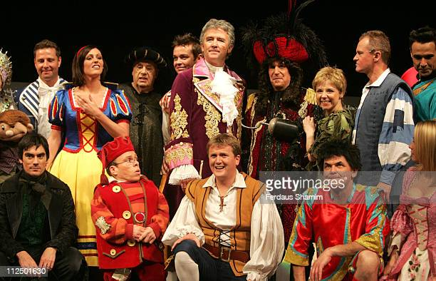 Cast members of all the Christmas Panto's during Christmas Pantomimes National Press Launch at Picadilly Theatre in London Great Britain