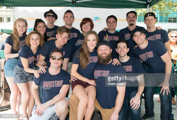 Cast members of 'Bandstand' attend 1067 Lite FM's Broadway in Bryant Park 2017 at Bryant Park on August 10 2017 in New York City