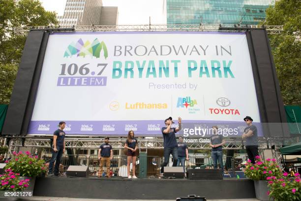 Cast members of 'Bandstand' perform during 1067 Lite FM's Broadway in Bryant Park 2017 at Bryant Park on August 10 2017 in New York City