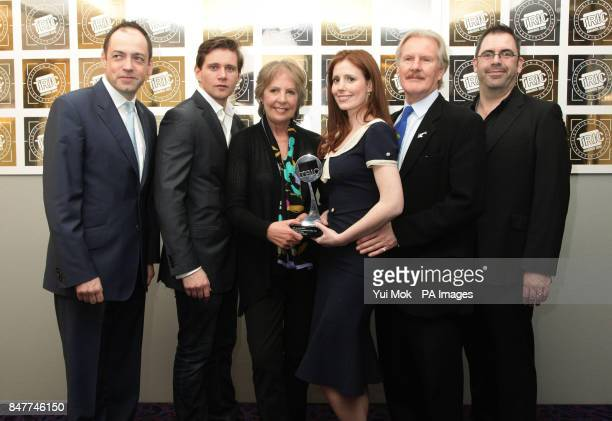 Cast members of Downton Abbey including Amy Nuttall and Penelope Wilton with their HD Drama Programme of the Year award during the Television and...