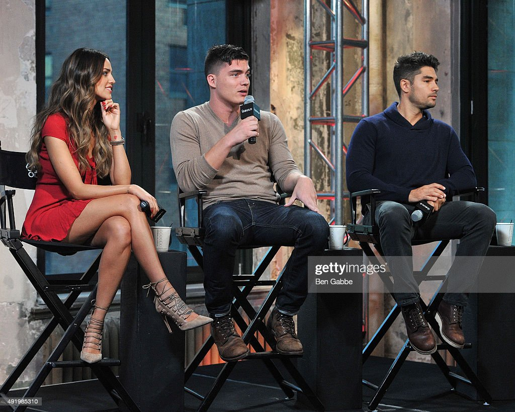 Cast members of 'Fron Dusk Til Dawn: The Series' Eiza Gonzalez, Zane Holtz and D.J. Cotrona attend AOL Build presents 'From Dusk Til Dawn: The Series' at AOL Studios In New York on October 9, 2015 in New York City.
