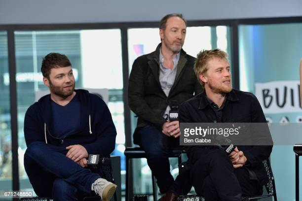 Cast members of 'Genius' actors Seth Gabel Michael McElhatton and Johnny Flynn attend the Build Series to discuss the new TV series 'Genius' at Build...