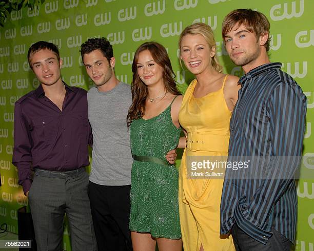Cast members of Gossip Girl pose at The CW TCA Party held at the Pacific Design Center on July 20 2007 in West Hollywood California