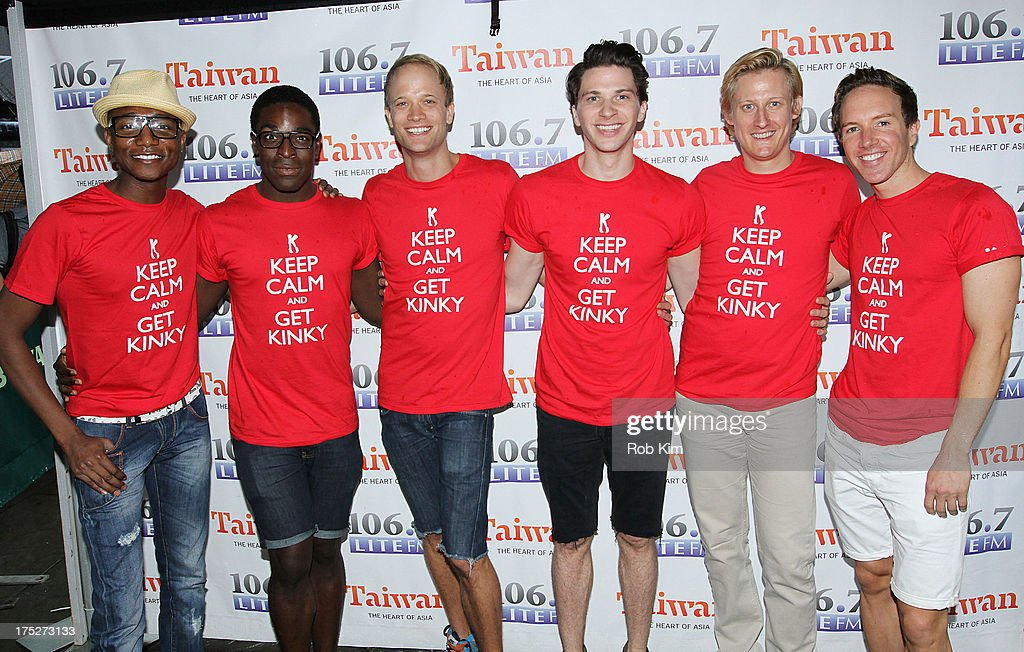 Cast members of 'Kinky Boots' attend 106.7 LITE FM's Broadway in Bryant Park 2013 at Bryant Park on August 1, 2013 in New York City.
