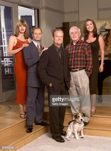 Cast Members Of Nbc Television Comedy Series 'Frasier' Pictured Jane Leeves As Daphne Moon David Hyde Pierce As Dr Niles Crane Kelsey Grammer As Dr...