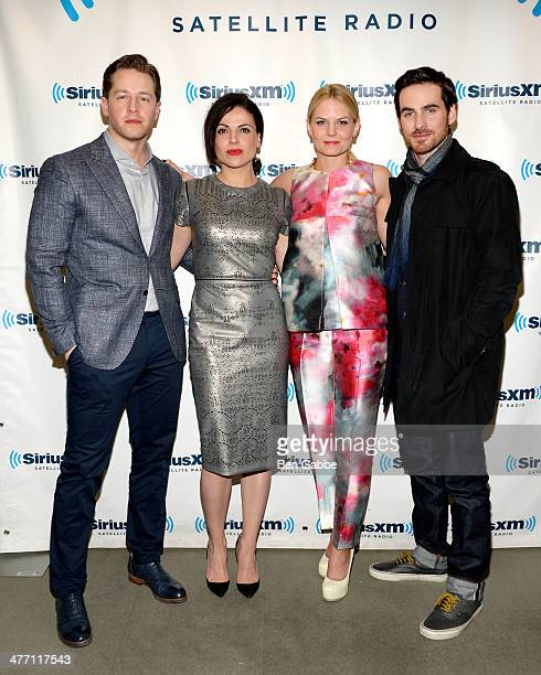 Cast members of 'Once Upon a Time' Josh Dallas Lana Parrilla Jennifer Morrison and Colin O'Donoghue visit SiriusXM Studios on March 7 2014 in New...