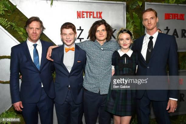 Cast members of Ozark Marc Menchaca Carson Holmes Charlie Tahan Julia Garner and Chris Baker attend the Netflix Original 'Ozark' New York Screening...
