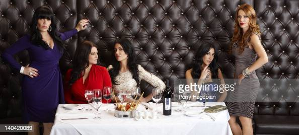 Cast members of reality show 'Mob Wives' Renee Graziano Karen Gravano Carla Facciolo Ramona Rizzo and Drita D'avanzo are photographed for Reality...
