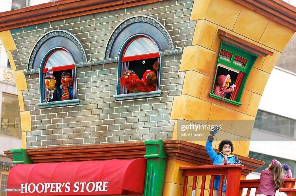 Cast members of Sesame Street attend the 86th Annual Macy's Thanksgiving Day Parade on November 22, 2012 in New York City.
