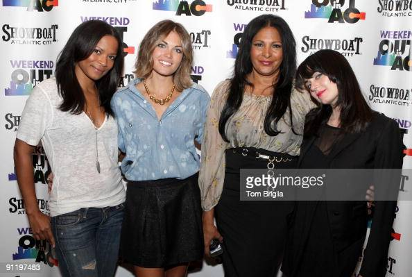 Cast members of Showtime�s The L Word Rose Rollins Kate French Pam Grier and Mia Kirshner attend a VIP mix and mingle in the Foundation Room at the...