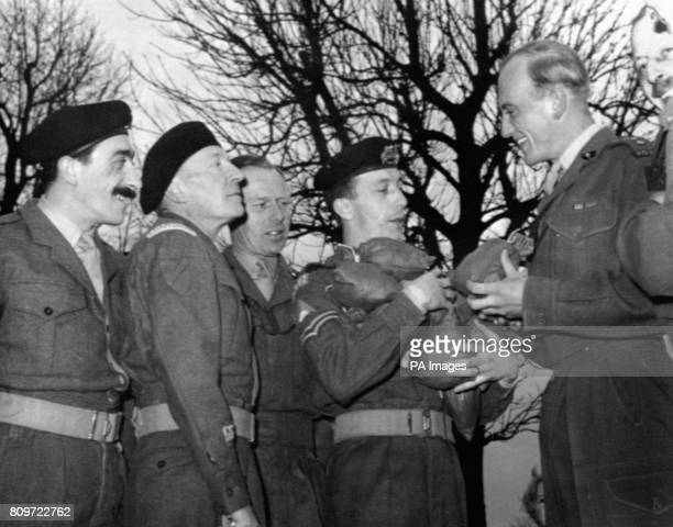 Cast members of the Granada Television series 'The Army Game' Mario Fabrizi William Hartnell unknown Harry Fowler and unknown