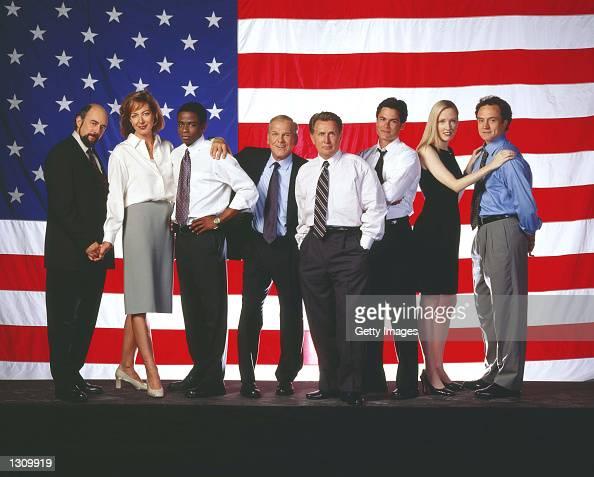 Cast members of the NBC drama 'West Wing' from Richard Schiff as Communications Director Toby Ziegler Allison Janney as Press Secretary CJ Gregg Dule...