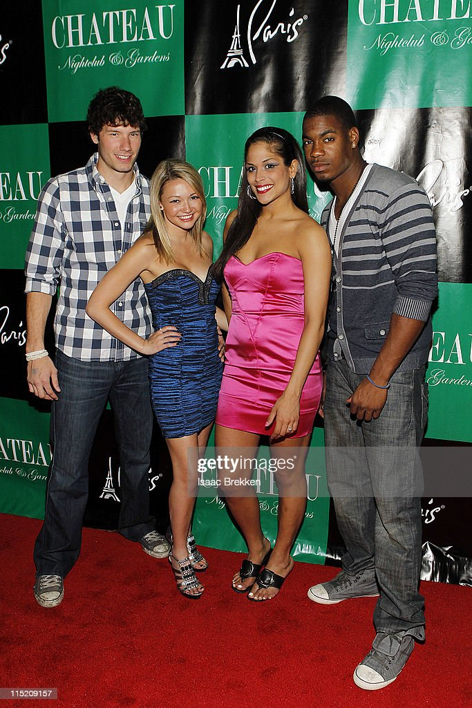 Las Vegas, (L-R) Dustin Zito, Heather Marter, Nany Gonzalez and Leroy Garrett arrive at Chateau Nightclub & Gardens on June 3, 2011 in Las Vegas, Nevada.