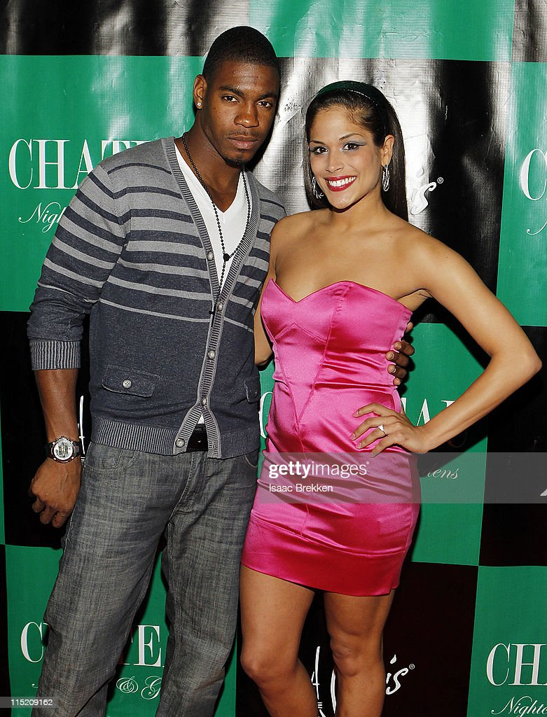 Las Vegas, Leroy Garrett (L) and Nany Gonzalez arrive at Chateau Nightclub & Gardens on June 3, 2011 in Las Vegas, Nevada.