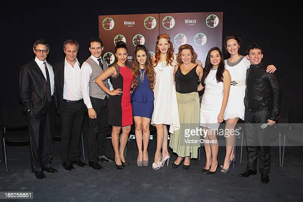 Cast members of the theater play 'Wicked' Beto Torres Paco Morales Jorge Lau Ana Cecilia Anzaldúa Danna Paola Cecilia De La Cueva Anahi Allue Marisol...