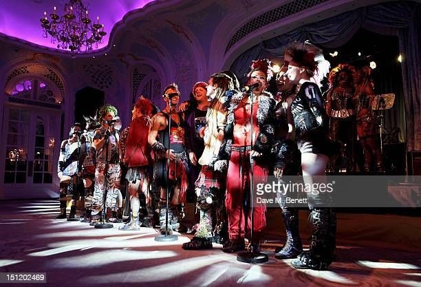 Cast members of 'We Will Rock You' perform during the second annual 'Freddie For A Day' event in memory of Queen's late frontman Freddie Mercury at...
