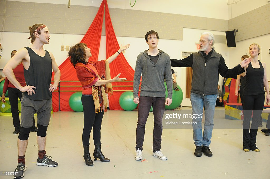 Cast members perform in the 'Pippin' Broadway Open Press Rehearsal at Manhattan Movement & Arts Center on March 8, 2013 in New York City.